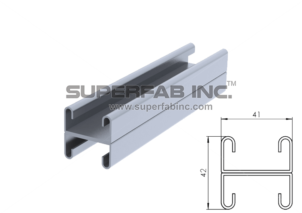 SIS 008  sc 1 st  Cable Tray Manufacturers & Super Strut Channel - Combination Double - SuperFab Inc.